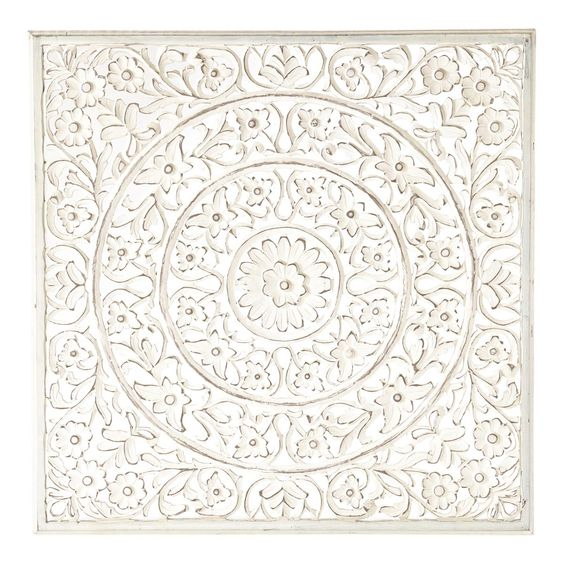 Panneau mural ranakpur blanc direction l 39 inde d coration inspiration as - Panneau mural chambre ...