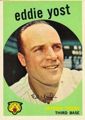 Eddie Yost 1959 Third Base - Detroit Tigers  Card Number: 2