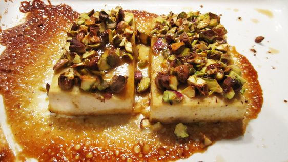 Pistachio-Crusted Maple Dijon Tofu