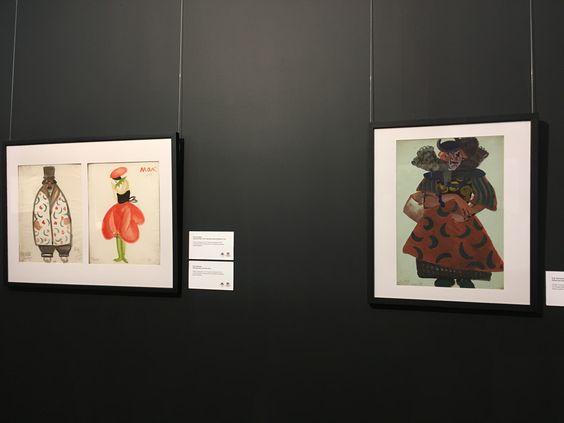 Эскизы костюмов на открытии выставки Большого театра в Музее изобразительных искусств. Фото Жени Шведы