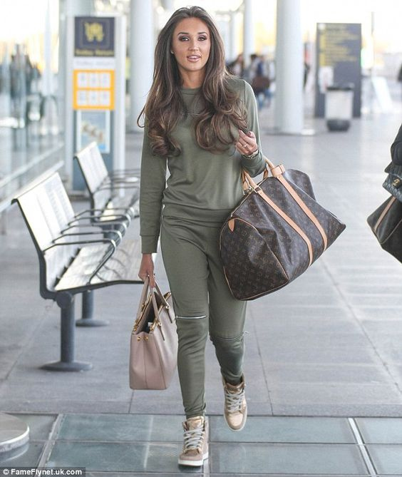 Off-duty chic: Megan Mckenna decided to slip into something a little more comfortable as s...