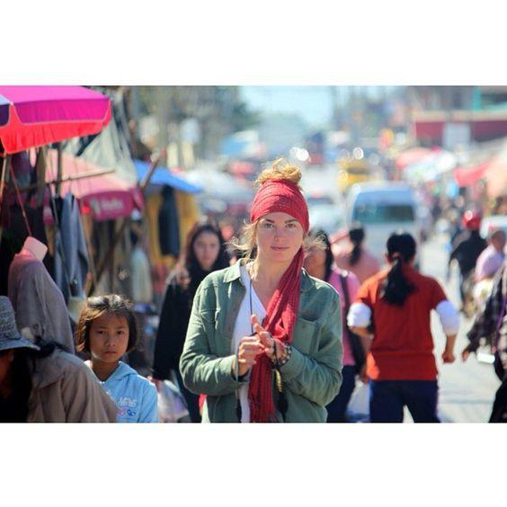 Chiang Dao w a n d e r i n g. Our Karma scarves make sweet head wraps.
