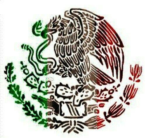 Viva Mexico Escudo De Mexico Dibujos Calendario Azteca