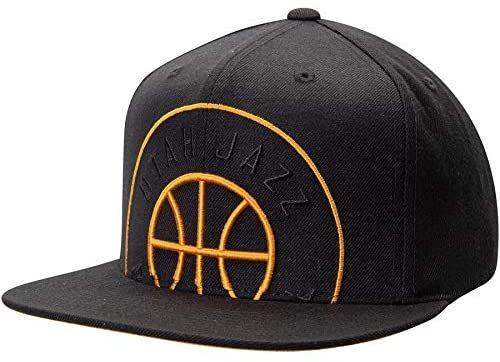 Mitchell Ness Utah Jazz Black Cropped Xl Adjustable Snapback Hat Utah Jazz Mitchell Ness Snapback Hats
