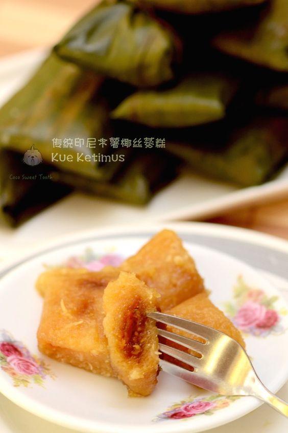 传统印尼木薯椰丝蒸糕 Kue Ketimus ......Traditional Indonesian Tapioca Coconut Steamed Cake