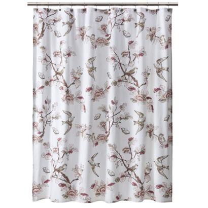 Curtains Ideas bird shower curtain : Threshold™ Shower Curtain Bird - Pink Target $20 | Bath ...