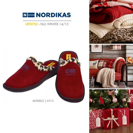 Nordikas Top Line Ante Rojo. #Nordikas #Lifestyle #Red #Piel #Calzadodehogar #Trend #MadeInSpain #FW1415