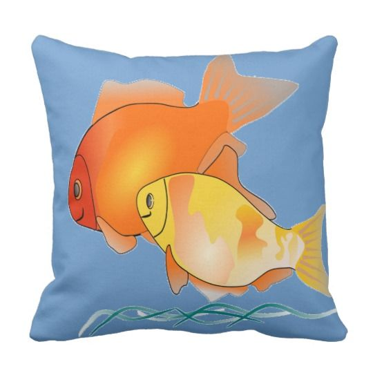 Goldfish Picture Print Pillow Cushions