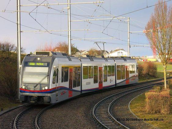 """Bdwm Bremgarten Dietikon train * Zürich S-Bahn  Abe 4/8 """"Diamond"""" (Stadler rail) S17 Wohlen - bremgarten — at Mutschellen."""