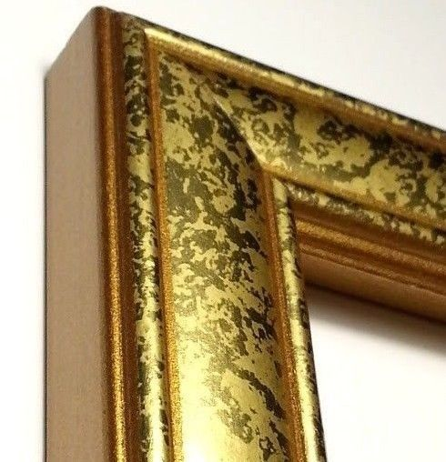 100 Ft Gold Picture Frame Moulding Wood Weathered Gold Stone 1 25 In Width Nickell Picture Frame Molding Gold Picture Frames Wholesale Picture Frames
