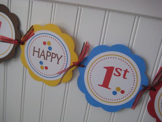 diy first birthday banner firstbirhday first birthday