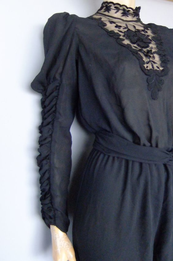 black jumpsuit / onsie / vintage onepiece / xs / s by vintage2049 on Etsy