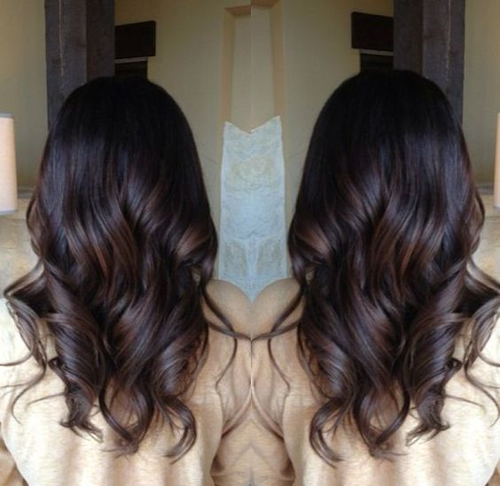 Brunette balayage. As close as you can get to what a \u0026quot;natural\u0026quot; highlight