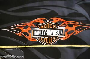 harley davidson quilts   Harley Davidson MOTORCYCLE fabric panel QUILT new 15X25   eBay