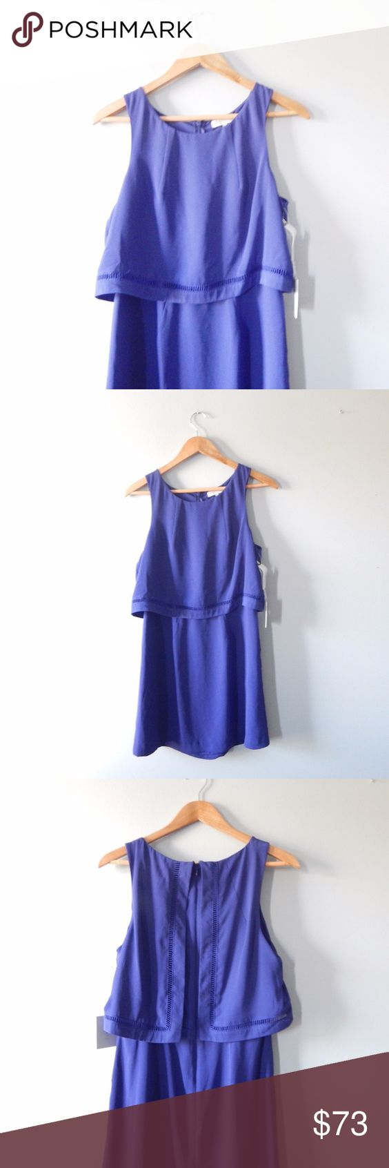 1.STATE Popover Dress 1.STATE from Nordstrom ladder stitch Popover dress size medium. Purple/navy blue. I absolutely adore this dress, just wishing it would fit me! True to size. Can post measurements upon request. 💐 1.STATE Dresses Mini