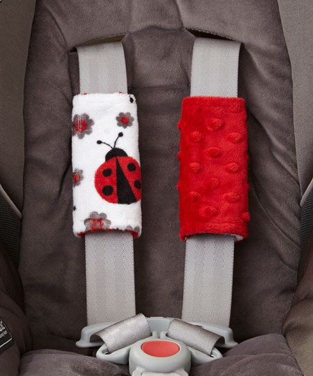 Lolly Gags Scarlet Ladybug Minky Strap Cover Set Cars