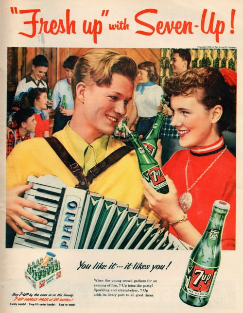 Seven Up, vintage advertising poster.