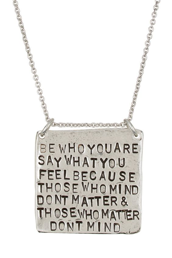 Be who you are pendant necklace by alisa michelle on hautelook be who you are pendant necklace by alisa michelle on hautelook mozeypictures Images