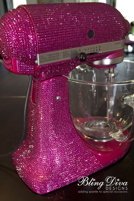 Kitchen-aid mixer covered in Swarovski Crystals | bitchen kitchen ...