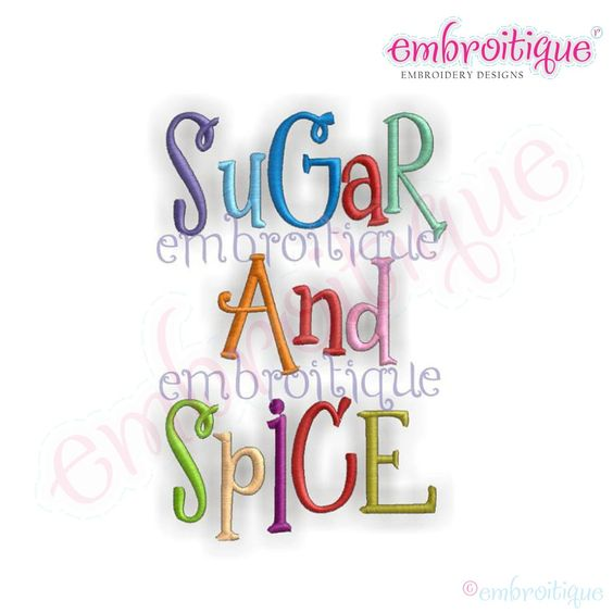 Monogram Sets - Sugar and Spice Whimsical Curly Monogram Set on sale now at Embroitique!