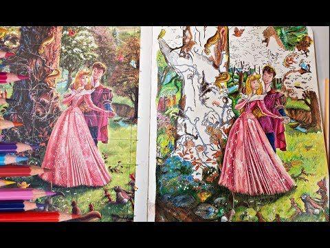 Color My World Youtube Color Me Colouring Techniques Thomas Kinkade Disney