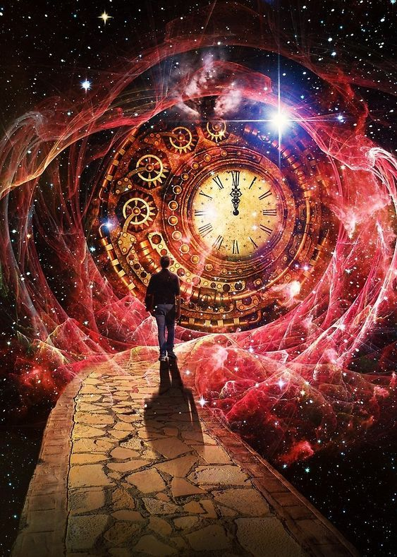 Transcending the Time | Spiritual art, Universe art, Visionary art