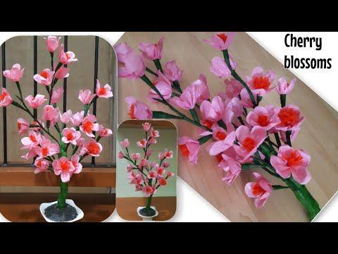 Kerajinan Bunga Sakura Dari Kresek Mudah Diy Cherry Blossoms