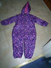 "Girls ""Debenhams Bluezoo"" Purple/Pink Puddle Suit Owls/Hedgehog Age 2-3 years"
