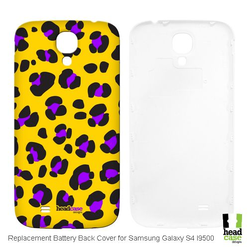 Head Case Designs Yellow Leopard Mad Prints Replacement Battery Cover for Samsung Galaxy S4 I9500
