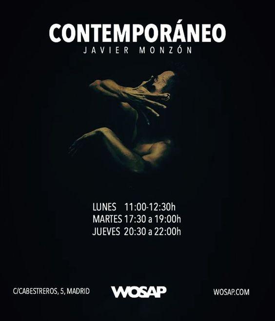 A partir de Octubre nuevas clases de #Contemporáneo con Javier Monzón! Bailarín de la Compañía Nacional de Danza.