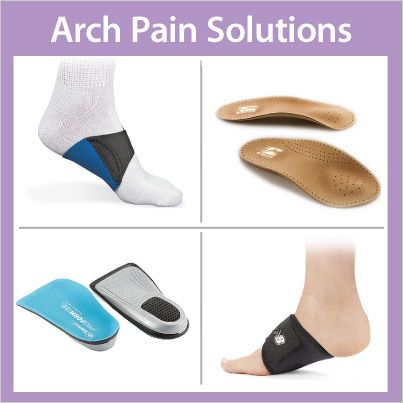 Struggling with arch pain caused by plantar fasciitis or other conditions? Find foot health solutions that can offer relief at FootSmart. Choose from expertly-selected products that massage and support feet, stretching aids, insoles, wraps, shoes and more.
