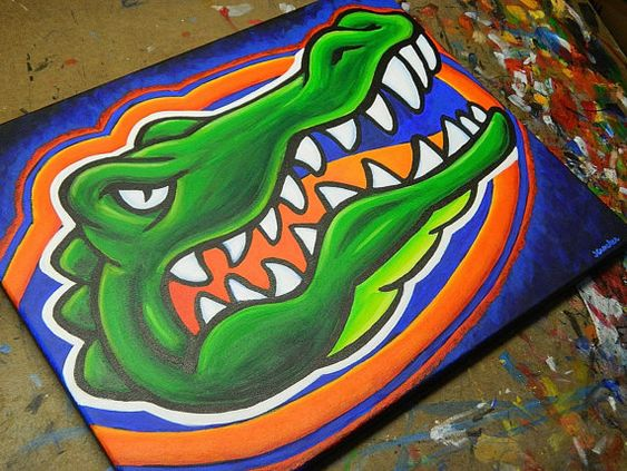 Flroida Gators Painting Sports Art College Football By