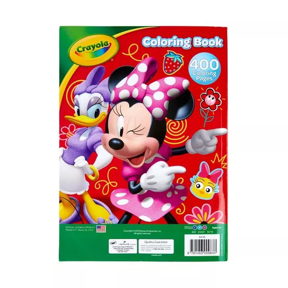 Crayola 400pg Minnie Mouse Coloring Book Minnie Mouse Coloring Pages Coloring Books Mickey Mouse Clubhouse Toys