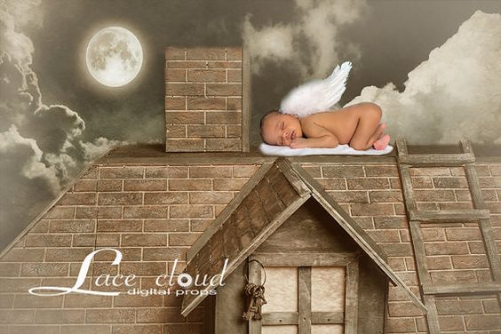 Digital Backdrop Newborn background vintage by LaceCloudStudio