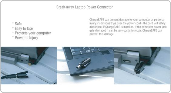 ChargeSAFE Break-Away Power Connector for PC Laptops