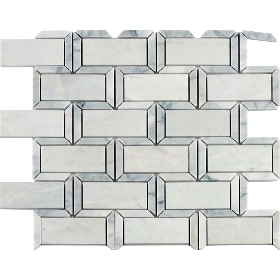 MS International Framework 12 in. x 14 in. x 10 mm Polished Marble Mesh-Mounted Mosaic Tile-FRMWRK-POL10MM - The Home Depot