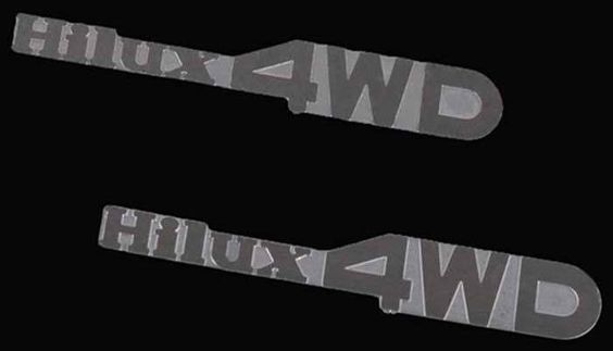 Z-S0930 - RC4WD Hilux 4WD Emblem Set for Mojave and Hilux Body