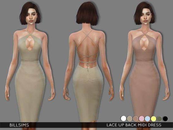 Bill Sims' Lace Up Back Midi Dress                                                                                                                                                      More