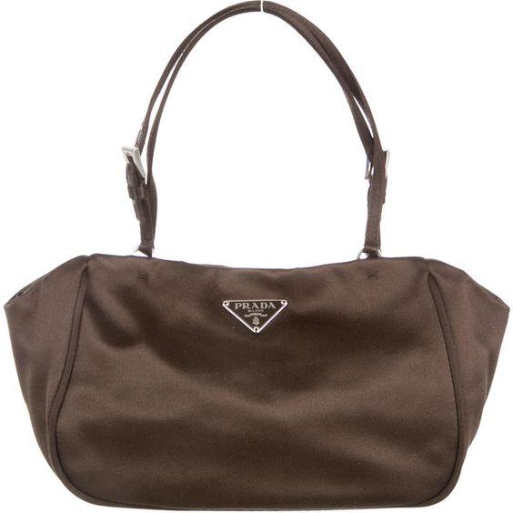 prada bags cheap - Pre-owned Prada Satin Handle Bag ($145) ? liked on Polyvore ...