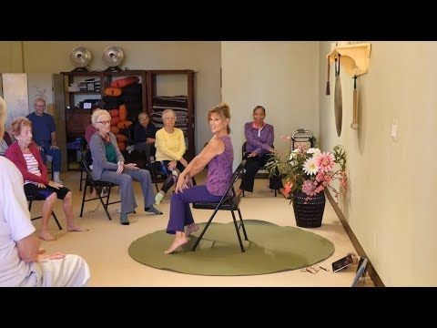 Chair Yoga Sun Salutations With Laurin Michelle Kyle Chopra Certified Educator Youtube Chair Yoga Yoga Dance Exercise