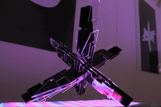 luminous installation from the exhibition Chapter zero