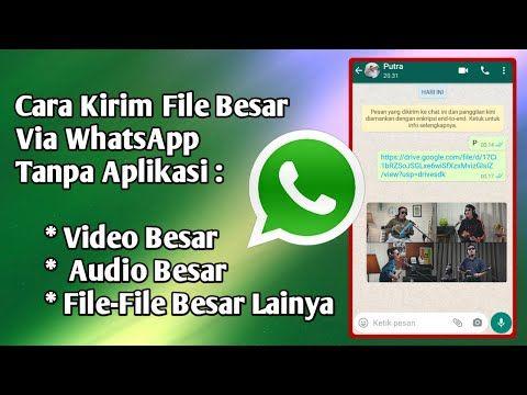 Pin Di Cara Kirim File Besar Via Whatsapp