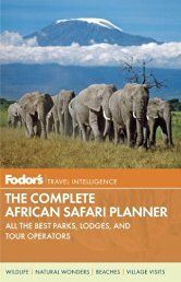 Fodor's The Complete Guide to African Safaris: with South Africa, Kenya…