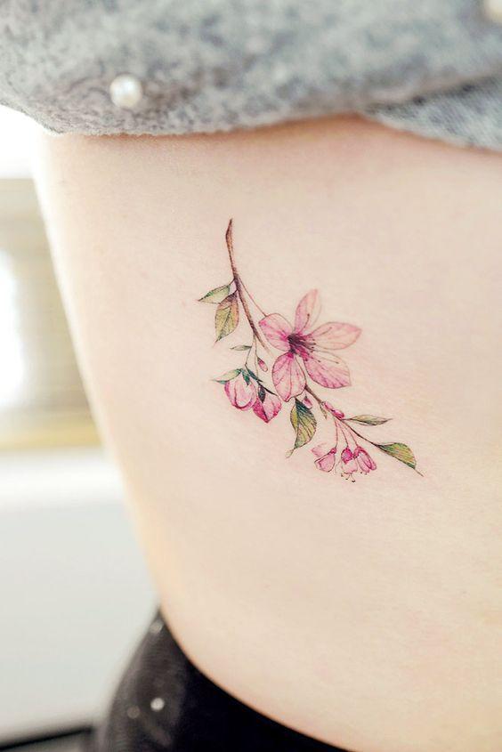 25 Modeles De Tatouages Fleurs De Cerisier Tatouage Fleur Tatouage Modele Tatouage