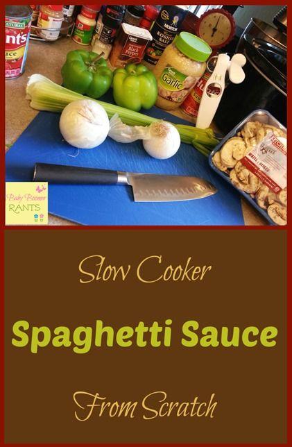 ... Slow Cooker Spaghetti Sauce, Slow Cooker Spaghetti and Spaghetti Sauce