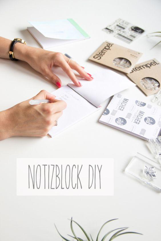 Notizblock DIY mit den Papierprojekt Moment-Stempeln by ScateredConfetti // #diy #giftidea #papercrafts