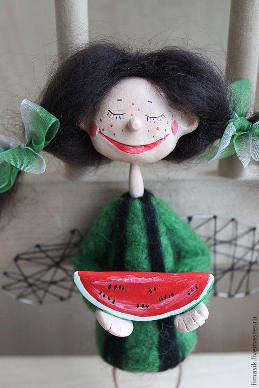 Купить Арбузинка - ангелочек, кукла-ангел, феечка, сувениры и подарки, смешной подарок
