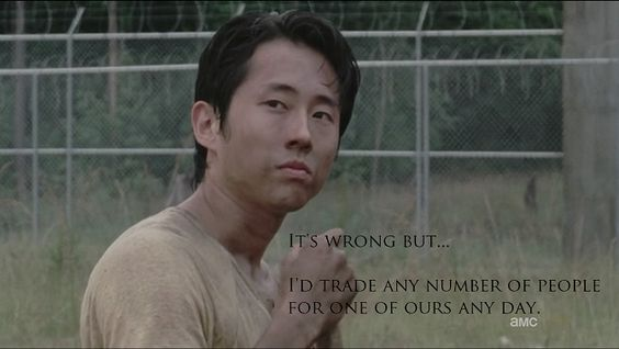 One of Glenn's lines