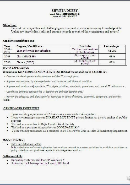 best resume objective statement Sample Template Example - fresher objective in resume