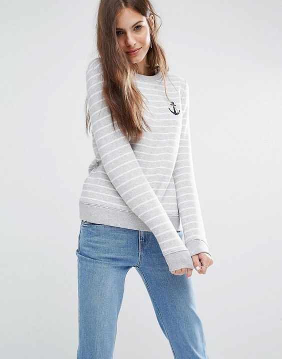 Tommy Hilfiger | Tommy Hilfiger Stripe Logo Sweatshirt at ASOS